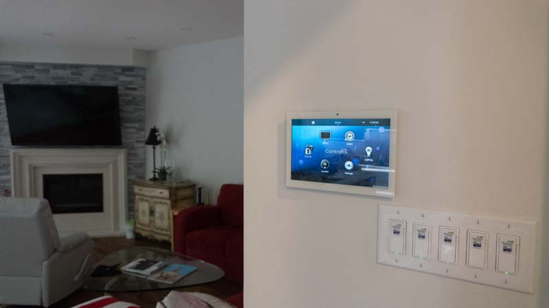 Control4 touchscreen in Aurora house