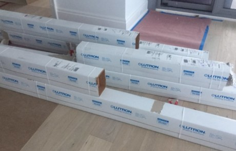 Lutron shades packaging